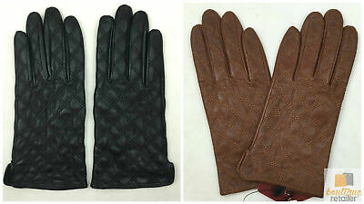 DENTS Women's Patterned Leather Gloves Classic LL3031 Winter Lined