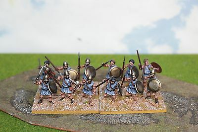 28mm Ancient Plastic DBM FOG DPS painted Numidian foot Infantry 4 x Ax WP7739