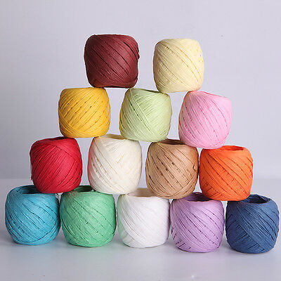 20M Raffia Paper Roll Ribbon Decorating Flowers Gift Wrap DIY Craft Scrapbooking
