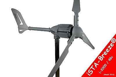 Windgenerator 48 V/2000 W White Edition WINDKRAFTANLAGE,WINDENERGIE,iSTA-BREEZE®