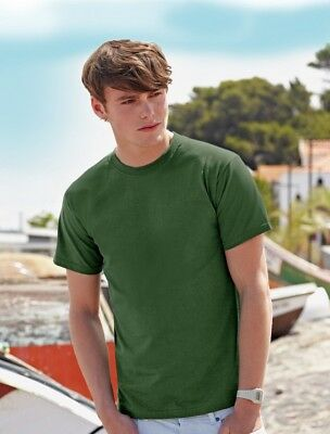 Fruit of the Loom Mens Plain Super Premium Heavy Cotton T Shirt 8 Colours