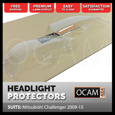 OCAM Headlight Headlamp Protectors for Mitsubishi Challenger 2009-15 Lamp Covers