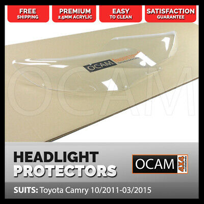 OCAM Headlight Headlamp Protectors for Toyota Camry 10/2011-03/2015 Lamp Covers
