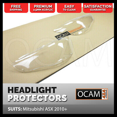 OCAM Headlight Headlamp Protectors for Mitsubishi ASX 2010-2018 Lamp Covers