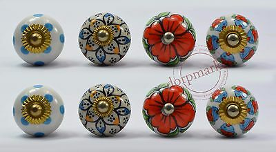 16 pieces dotted Multi color Kitchen / dress Ceramic Knobs Cupboard drawer Pull