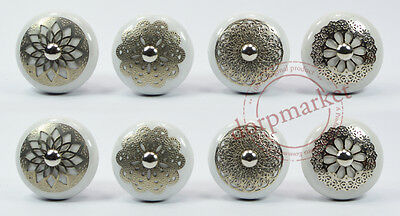 16 Pieces White Color Nice  Kitchen / dress Ceramic Knobs Cupboard drawer Pull
