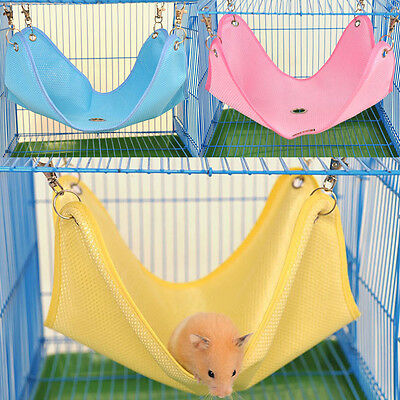 Pink Net Cloth Cage 2 Size Hanging Comfort House Rat Hamster Mouse Hammock Bed
