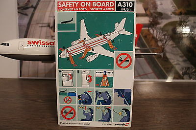 Swissair A310 HB-IPF/G Safety Card