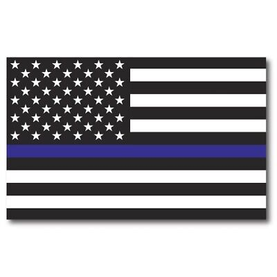 Thin Blue Line American Flag Magnet Large Size 5x8 inch Decal for Car or Truck