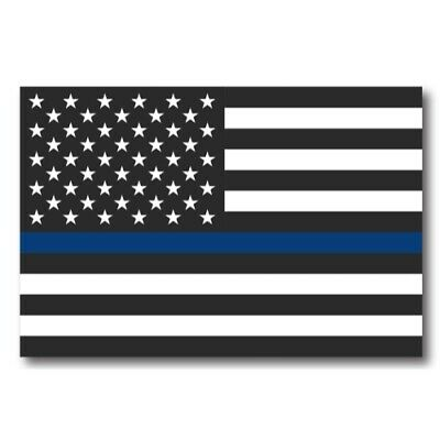 Thin Blue Line American Flag Magnet 4x6 inch Decal for Car Truck or Fridge