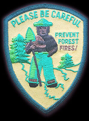 Smokey The Bear Original Slogan Forest Wildfires Fires California Only You Patch