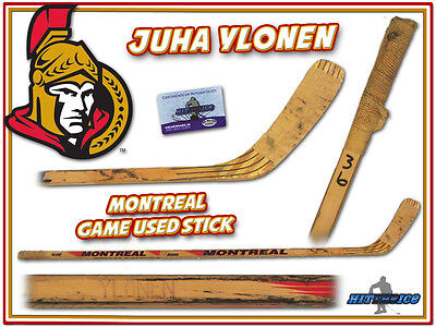 JUHA YLONEN Game Used Stick OTTAWA SENATORS w/COA