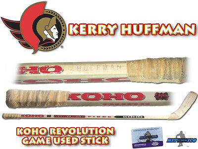 KERRY HUFFMAN Game Used Stick OTTAWA SENATORS - w/COA HOLOGRAM