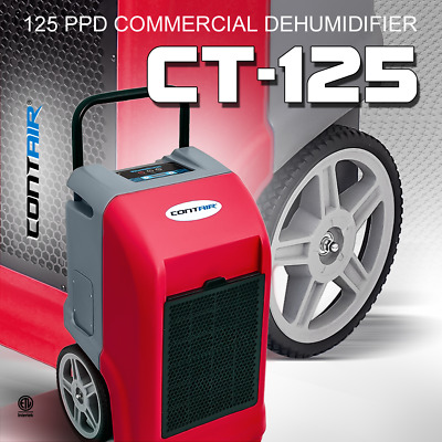 Contair® CT-125 ETL Certified Commercial Grade Dehumidifier Humidity Control Red