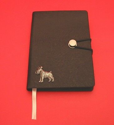 Miniature Schnauzer Motif A6 Black Soft Touch Journal Father Mothers Useful Gift