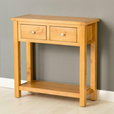 Poldark Oak Console Table / Light Oak Large Hall Table / Telephone Table / New