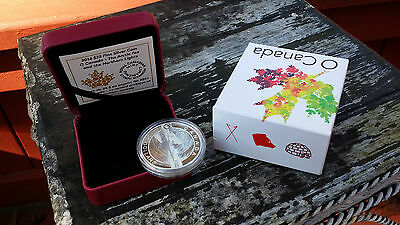 2014 O Canada The Arctic Fox Northern Lights 1 Oz Pure Silver $25 Proof!