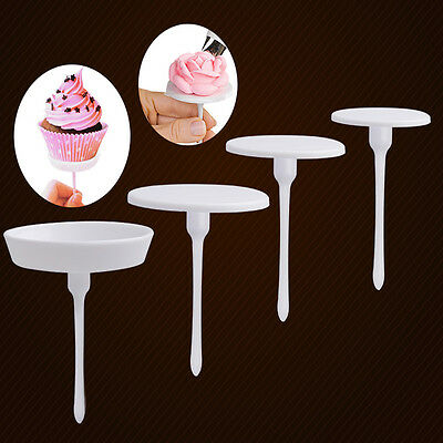 4X Cake Cupcake Stand Icing Cream Flower Nails Set Sugarcraft Decorating Holder