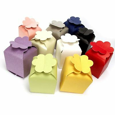 Large Flower Top Coloured Cupcake Favours Cup Cake Boxes Wedding