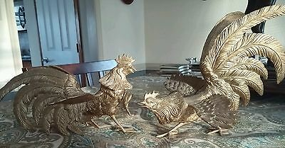 Goldtone fighting Roosters