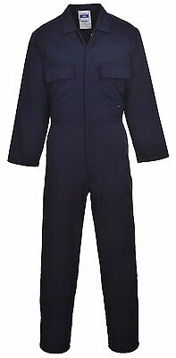 Portwest Mens Work Coverall Boilersuit Mechanics Overall Student S999