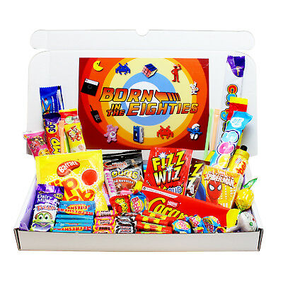 Born In The 80S Retro Sweets Gift Box- Birthday Present