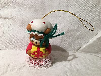 "Jasco Chimers ""Granny Mouse "" Bisque Porcelain Bell /Christmas Ornament"