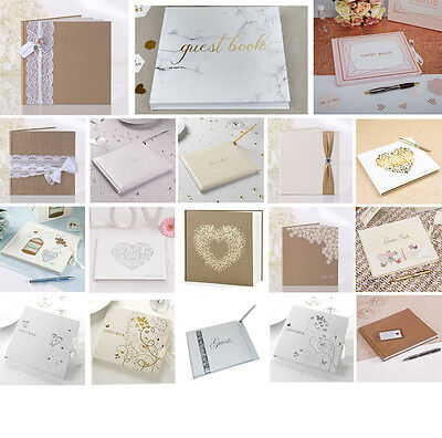 Wedding Guest Book  22 Designs  Celebration Party Book Keepsake in Box