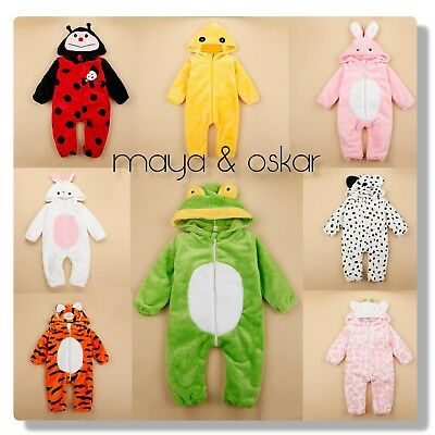 Baby Animal Plush Outfit Romper Costume Party Carnival Fancy Dress 6 12 18 24m