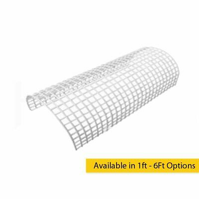 White Wire Rounded Tubular Heater Guard Protection in 1, 2, 3 or 4 Ft Options