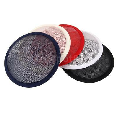 Round Sinamay Base for Fascinator Party Hat Millinery Craft Making 5 Colors