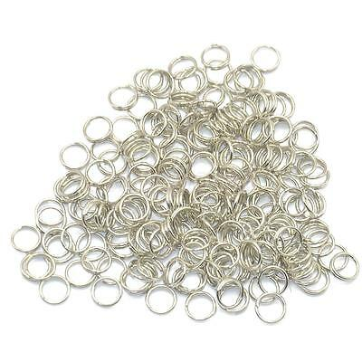Wholesale 200pcs Silver Plated 6mm Split Ring Keyring Double Loop Key Chain