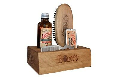 Bobos Beard Company Beard Care Kit ,beard Oil And Brush, Moustache Wax + Comb