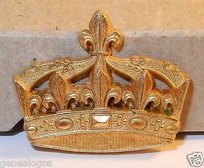 I Couronne Royale Feve Metal Dore 2D