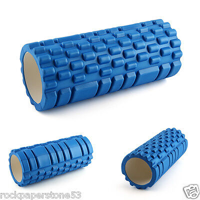FitBodz Trigger Point Foam Roller Grid Sports Massage Exercise Yoga Gym Physio