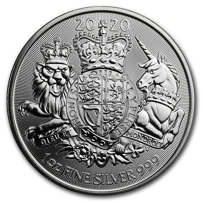 2020 Great Britain The Royal Arms - 1 oz. 999 Pure Silver Coin - BU - IN STOCK!!