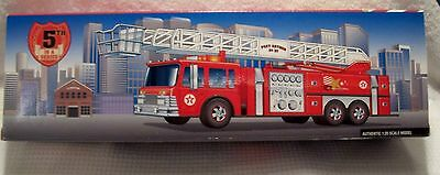1997 TEXACO AERIAL TOWER FIRE TRUCK 95 th ANNIVERSARY EDITION 5th IN SERIES MINT