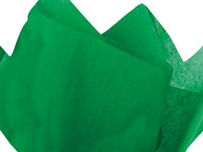 "Festive Green Wrap Tissue Paper 15"" X 20"" - 100 Sheets"