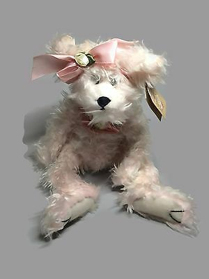 BEARINGTON COLLECTION Pink Plush Bear with Roses CAMILLE stuffed gift for her
