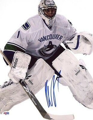 ROBERTO LUONGO SIGNED AUTOGRAPHED 11x14 PHOTO VANCOUVER CANUCKS PSA/DNA