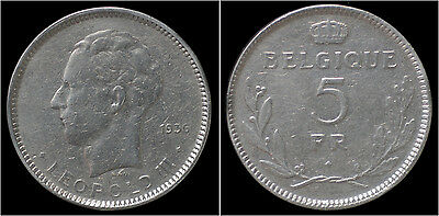Leopold III 5 frank 1936 French