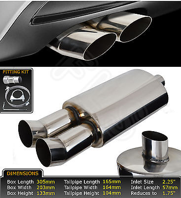 UNIVERSAL STAINLESS STEEL PERFORMANCE EXHAUST BACKBOX - LMO-003 – Fiat 1