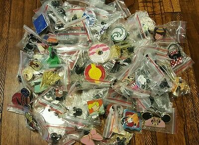 DISNEY TRADING PIN LOT of 50 NO DOUBLES HIDDEN MICKEY LIMITED EDITION FREE SHIP