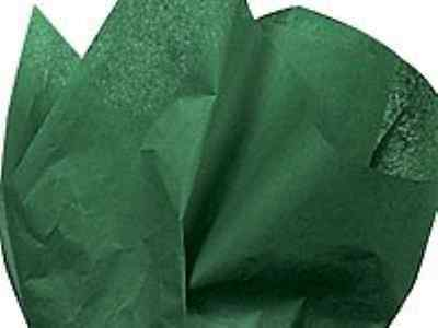 """Holiday Green Tissue Paper 20"""" X 30"""" - 48 Sheet Pack"""