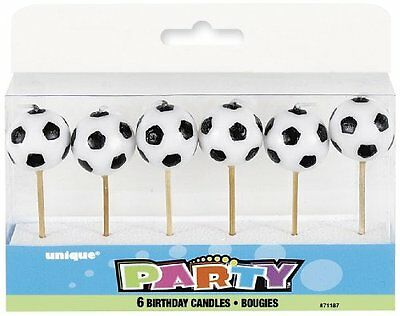 Ball Shaped Football Candles, Pack of 6