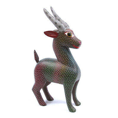 SPOTTED GOAT Alebrije Wood Carving Handcrafted Mexican Folk Art Sculpture