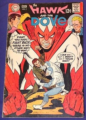 THE HAWK AND THE DOVE 2 November 1968 4.5-5 VG+/FN- DC SILVER AGE Steve Ditko