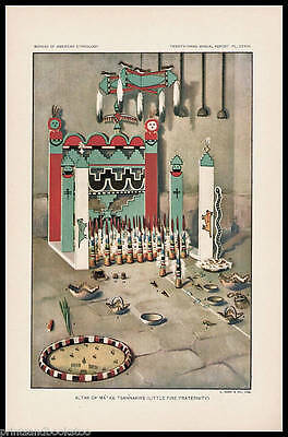 "Antique Prints - Zuni Kachinas - Late 1800's - ~7 x 11"" - Select 1 from Group A"