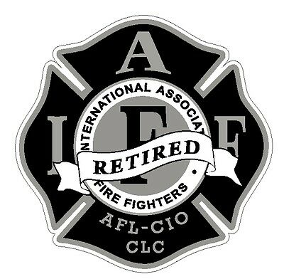 "4"" IAFF Decal  Black and Silver Retired Exterior Mount Please Read Auction"