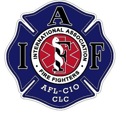 """4"""" IAFF Decal EMS Exterior Mount Please Read Auction"""